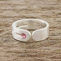Tourmaline wrap ring, 'Sparkling Secret' - Sterling Silver and Tourmaline Wrap Ring from Thailand