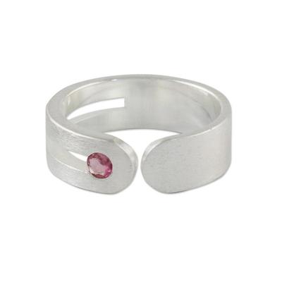 Tourmaline wrap ring, 'Sparkling Secret' - Sterling Silver and Tourmaline Wrap Ring from Thailand