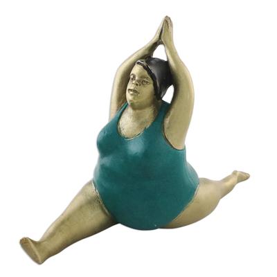 Brass Monkey Pose Yoga Figurine from Thailand