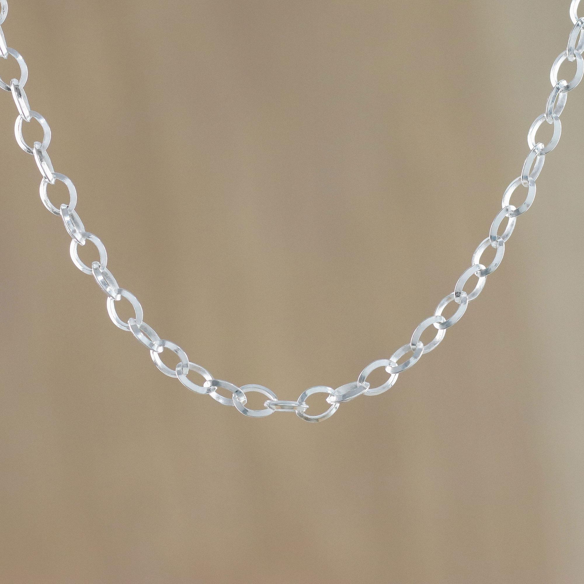Fashionable Trendy Gold Circle Link Design Bohemian Stylish Choker Necklace