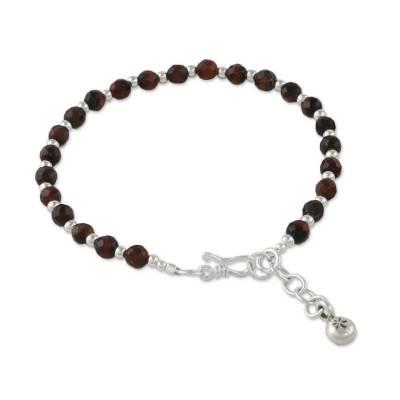 Tiger's eye beaded bracelet, 'Cool and Beautiful' - Tiger's Eye Beaded Bracelet from Thailand