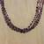 Garnet beaded necklace, 'Grape Festival' - Red Garnet and Glass Bead Grape Festival Beaded Necklace (image 2b) thumbail