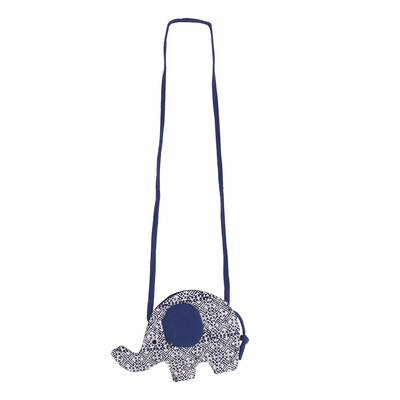 Handmade Elephant Shaped Cotton Sling in Blue from Thailand