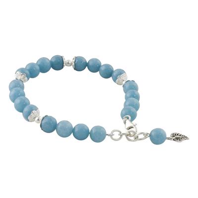 Light Blue Chalcedony Sterling Silver Gentle Sky Bracelet