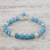 Chalcedony beaded bracelet, 'Gentle Sky' - Light Blue Chalcedony Sterling Silver Gentle Sky Bracelet (image 2b) thumbail