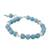 Chalcedony beaded bracelet, 'Gentle Sky' - Light Blue Chalcedony Sterling Silver Gentle Sky Bracelet (image 2c) thumbail