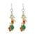 Multi-gemstone cluster earrings, 'Vivacious Color' - Multi-Gemstone Cluster Sterling Silver Dangle Earrings (image 2a) thumbail