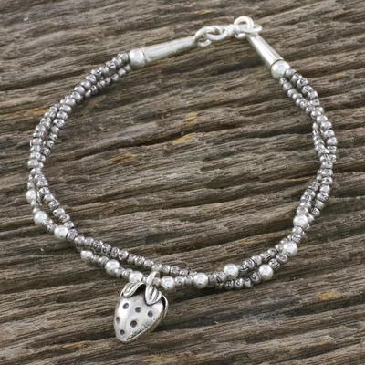 Novica Silver charm bracelet, Berry Sweet