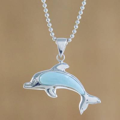 Larimar sterling silver swimming dolphin pendant necklace sleek larimar pendant necklace sleek swimmer larimar sterling silver swimming dolphin pendant necklace aloadofball Gallery