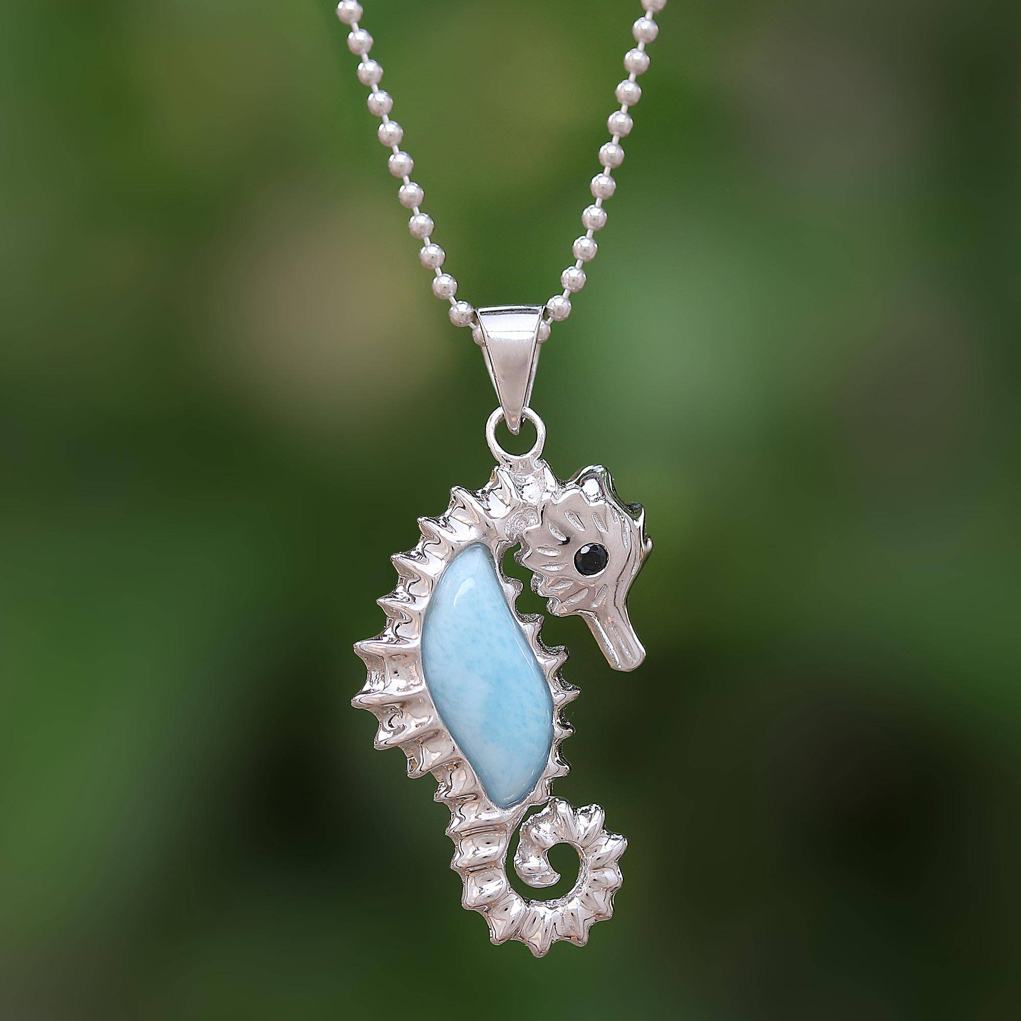 fresh pin seahorse necklace and handpainted pearl background dollar is sand water crystal real