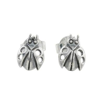 Sterling Silver Ladybug Stud Earrings from Thailand