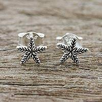Sterling silver stud earrings, 'Starfish Charm' - Sterling Silver Starfish Stud Earrings from Thailand