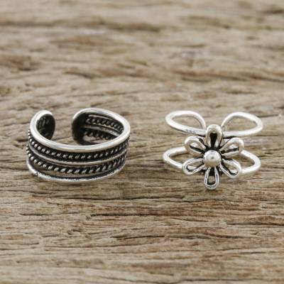 Sterling silver ear cuffs, Boutique Garden