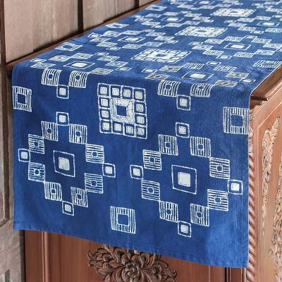 Cotton batik table runner, Embroidery Inspiration