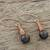 Garnet dangle earrings, 'Cute Cones' - Garnet Dangle Earrings Crafted in Thailand (image 2b) thumbail