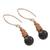 Garnet dangle earrings, 'Cute Cones' - Garnet Dangle Earrings Crafted in Thailand (image 2c) thumbail