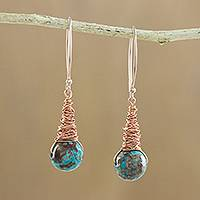 Agate dangle earrings, 'Cute Cones' - Agate Dangle Earrings Crafted in Thailand