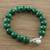 Quartz beaded bracelet, 'Voice of the Jungle' - Green Quartz Beaded Bracelet with Bell from Thailand (image 2) thumbail