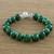 Quartz beaded bracelet, 'Voice of the Jungle' - Green Quartz Beaded Bracelet with Bell from Thailand (image 2b) thumbail