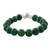Quartz beaded bracelet, 'Voice of the Jungle' - Green Quartz Beaded Bracelet with Bell from Thailand (image 2c) thumbail