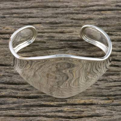 Sterling silver cuff bracelet, Shining Dimension