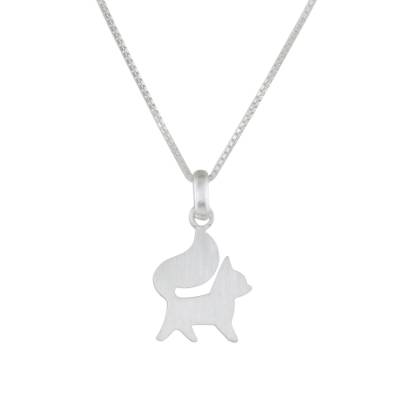 Elegant Sterling Silver Dog Pendant Necklace from Thailand