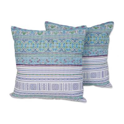 Cotton Blend Cushion Covers Woven by Hmong Artisans (Pair)