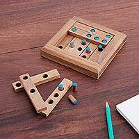 Wood puzzle, 'Blue Dots'