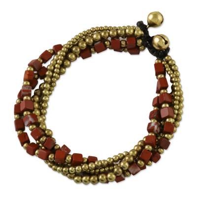 Jasper torsade bracelet, 'Boho Beautiful' - Handcrafted Colorful Jasper Torsade Bracelet from Thailand