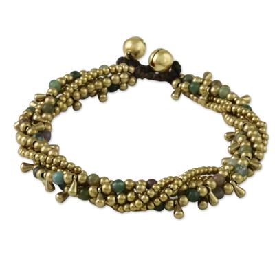 Agate Beaded Torsade Bracelet from Thailand