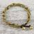 Unakite beaded torsade bracelet, 'Musical Love' - Unakite and Brass Beaded Torsade Bracelet from Thailand (image 2) thumbail