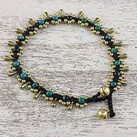 Serpentine beaded anklet,