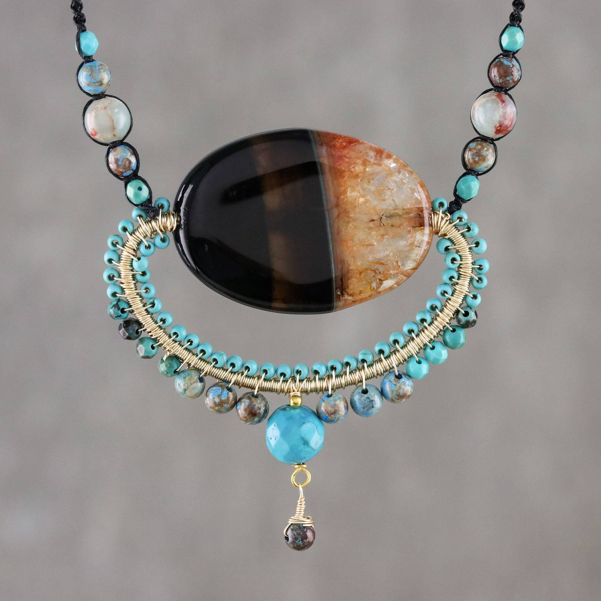 Cosmic Paradise Multi-Gemstone Statement Necklace