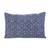 Batik cotton pillow sham, 'Exotic Geometry' - Geometric Batik Cotton Pillow Sham in Indigo from Thailand (image 2a) thumbail