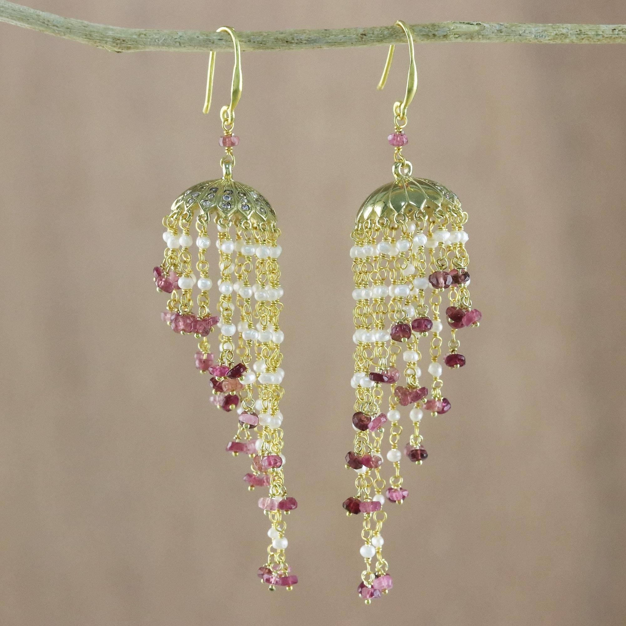 Gemstone Silver Jewelry Gold Plated Fine Hanging Earring Handmade Wholesaler New