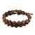 Jasper beaded wrap bracelet, 'Fiery Orbs' - Jasper and Leather Beaded Wrap Bracelet from Thailand (image 2c) thumbail