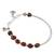 Jasper beaded charm bracelet, 'Red Garden' - Hill Tribe Silver and Red Jasper Beaded Charm Bracelet (image 2c) thumbail