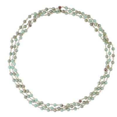 Jasper link necklace, 'Andaman Sea' - Jasper Link Necklace Crafted in Thailand