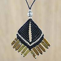Jasper pendant necklace, 'Hill Tribe Creativity' - Hill Tribe Jasper Pendant Necklace from Thailand