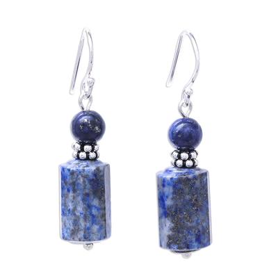 Lapis Lazuli Dangle Earrings from Thailand