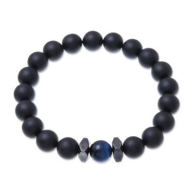 Black Onyx and Blue Tiger