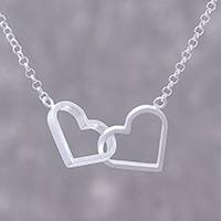 Sterling silver pendant necklace, 'Heart Promise' - Sterling Silver Heart Pendant Necklace from Thailand