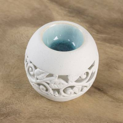 Ceramic oil warmer, Charming Ivy