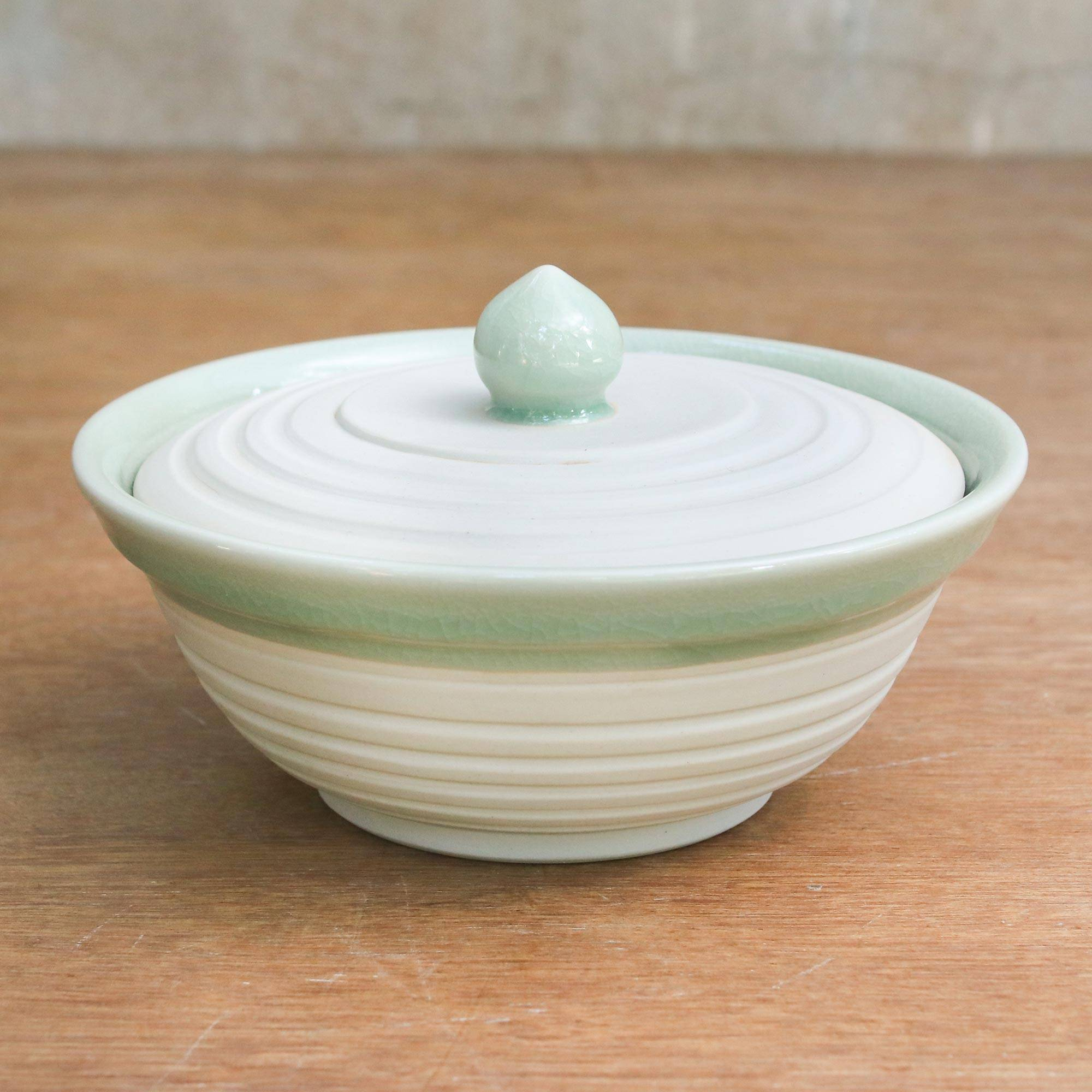 Small Decorative Celadon Dish//Bowl//Jar Ceramic