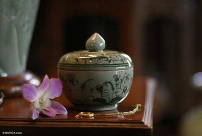 Celadon Ceramic Jewelry Box
