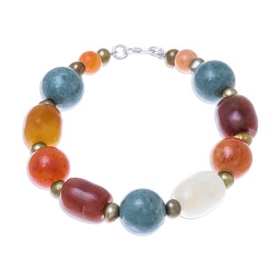 Multi-gemstone beaded bracelet, 'Love and Mercy' - Multi-Gemstone Beaded Bracelet from Thailand