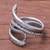 Silver wrap ring, 'Oxidized Snake Path' - Oxidized Karen Silver Wrap ring from Thailand thumbail