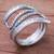 Silver wrap ring, 'Oxidized Snake Path' - Oxidized Karen Silver Wrap ring from Thailand (image 2b) thumbail