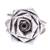 Sterling silver cocktail ring, 'Chic Rose' - Rose Flower Sterling Silver Cocktail Ring from Thailand (image 2a) thumbail