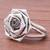Sterling silver cocktail ring, 'Chic Rose' - Rose Flower Sterling Silver Cocktail Ring from Thailand (image 2c) thumbail